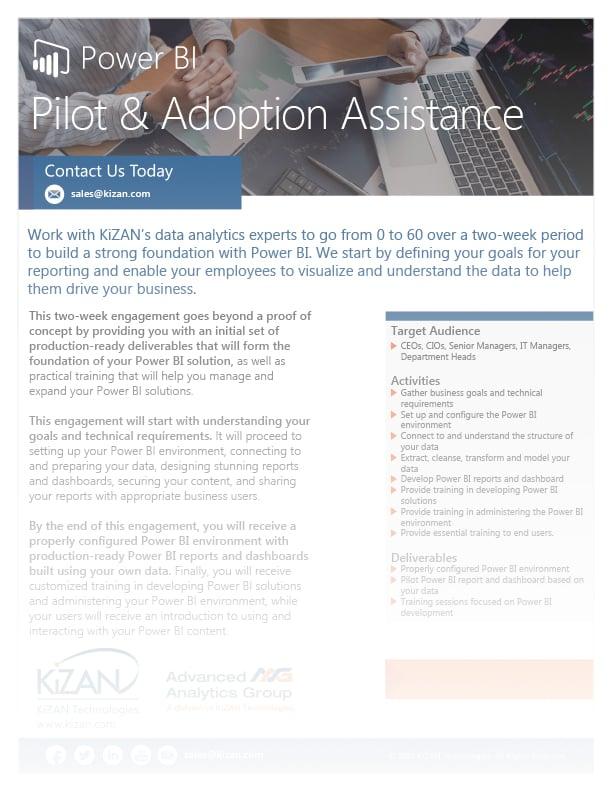 Power BI Pilot & Adoption Assistance