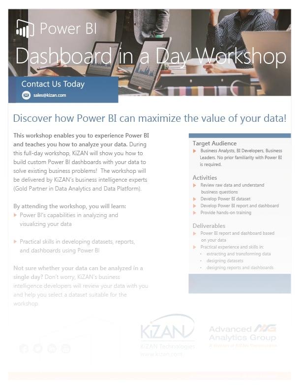 Power BI Dashboard in a Day Workshop