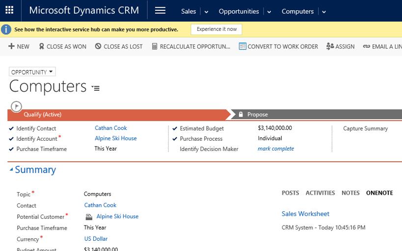 Microsoft Dynamics CRM Activity Wall