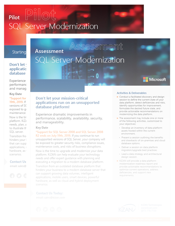 Power BI SQL Server Modernization