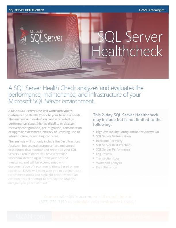 Power BI SQL Server Health Check