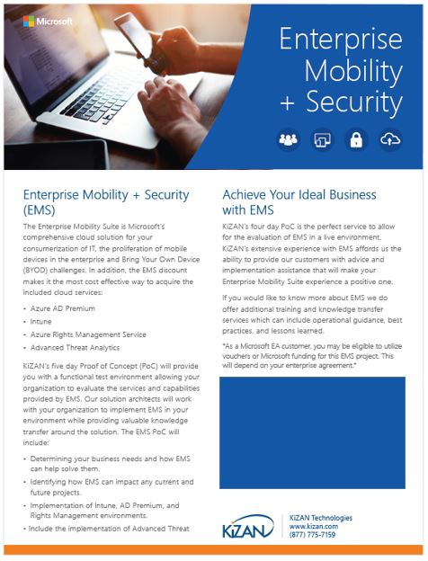 Enterprise Mobility + Security Proof of Concept Offer