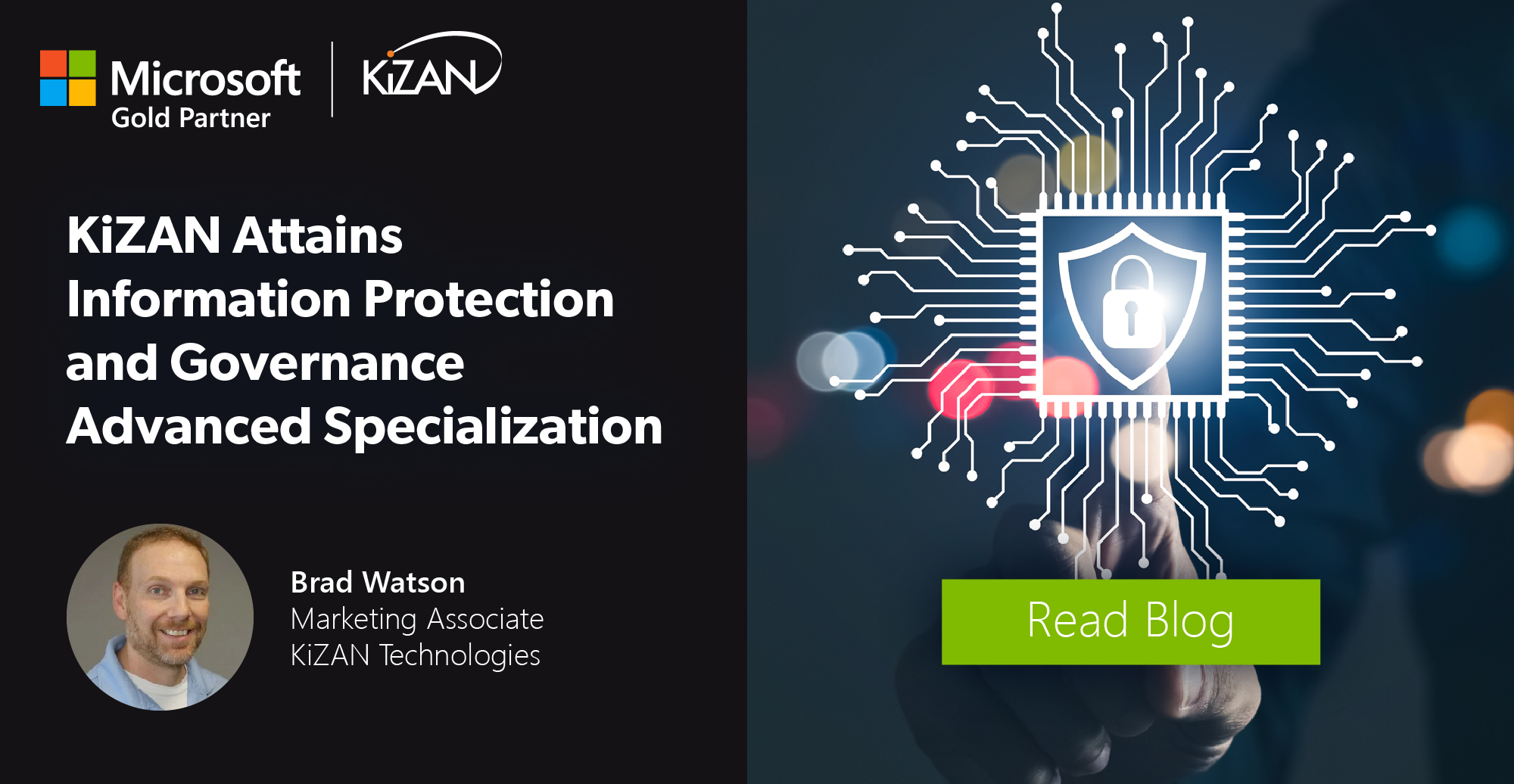 KiZAN Attains Information Protection and Governance Advanced Specialization