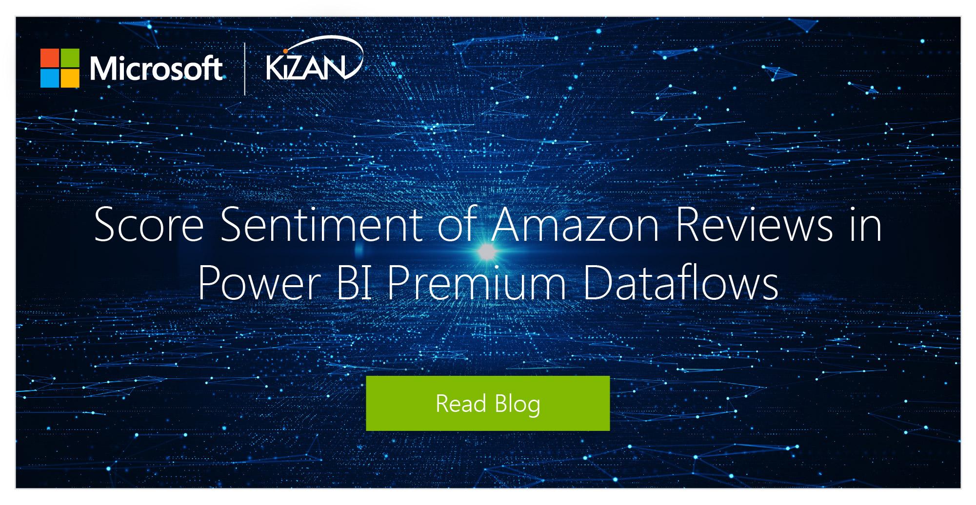 Score Sentiment of Amazon Reviews in Power BI Premium Dataflows