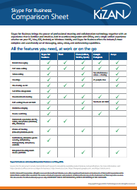 Skype for Business Comparison Sheet