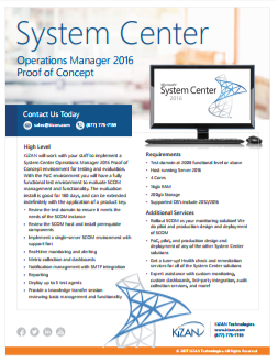 System Center Operations Manager Proof of Concept Offer